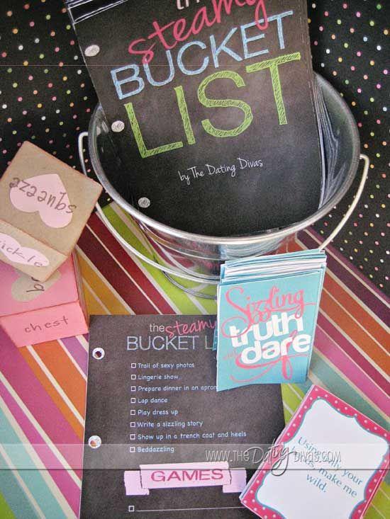 A Steamy Bucket List- free download!  156 ideas!!!  #bestwifeever