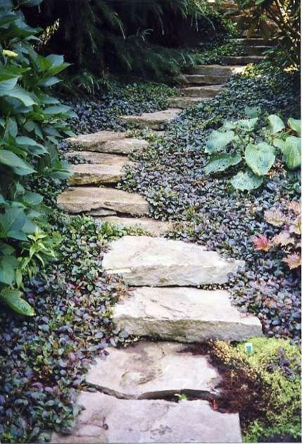 Stone Steps Mosaic Garden