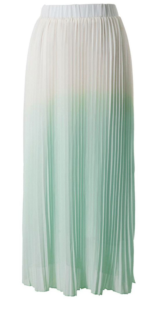 Mint ombre maxi skirt