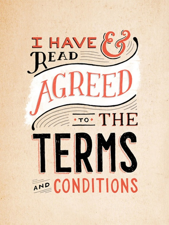 agreed to the terms graphic banner