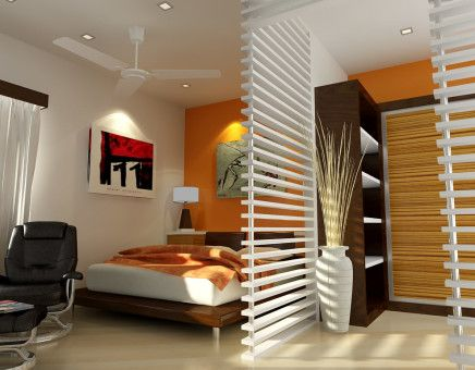 Small bedroom interior decoration