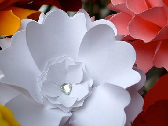 Handmade Paper Flower  Camellia