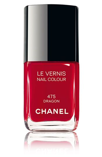 Chanel red dramatic and glamourous