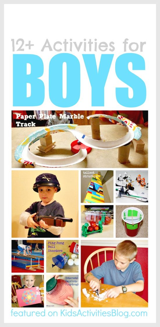 12 Activities for Boys!  These are such fun.