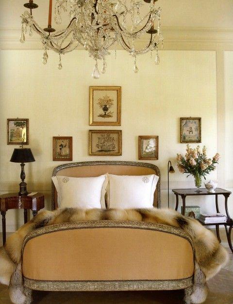 Suzanne Rheinstein's LA home bedroom   #design #interior #inspiration #bed #bedroom #chic #elegant #vintage #glam
