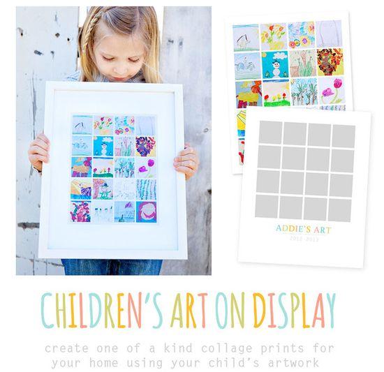 Love this Children's Art Display template!