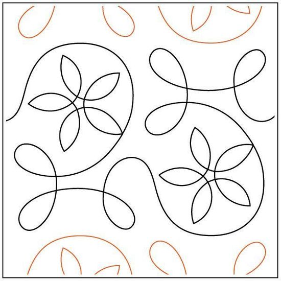 Ginger Spring quilting pantograph pattern from Apricot Moon Designs #pantograph #pantographforquilting #pantographquilting #machinequilting #machinequiltingpatterns #machinequiltingfreemotion