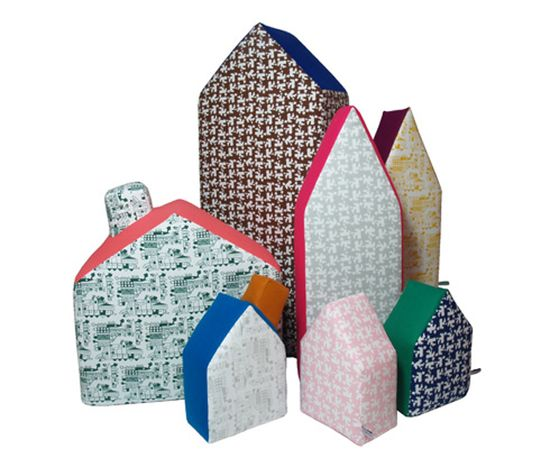 #houses #pillows