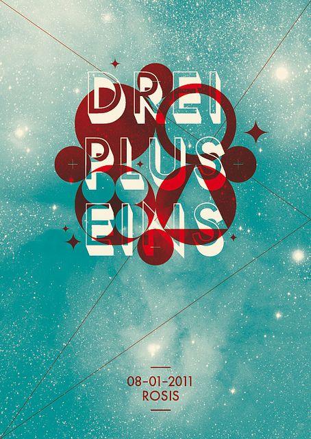 Drei Plus Eins #poster #design