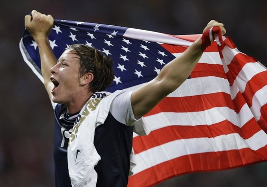Olympic 2012 Gold Medal Women's Soccer, Abby Wambach