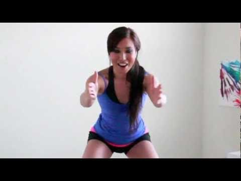 'Call Me Maybe' Mighty Squat Challenge! KILLS your legs but it's a great, fast workout!