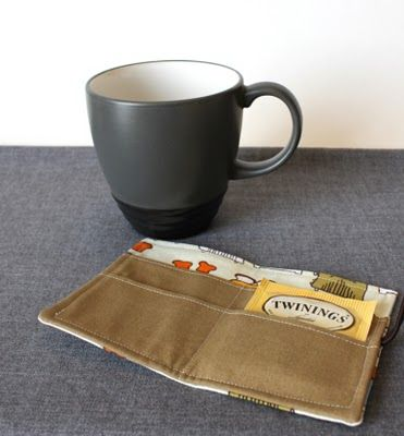 I should probably make one of these for all the tea bags that I stash in my purs