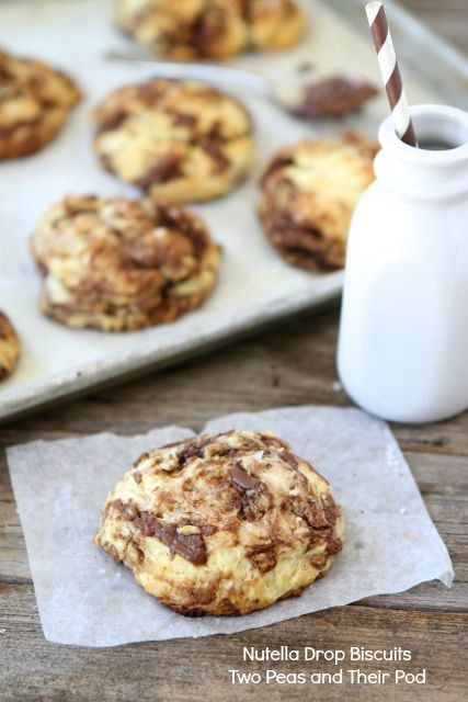 Nutella Drop Biscuits from www.twopeasandthe... #Nutella #recipe