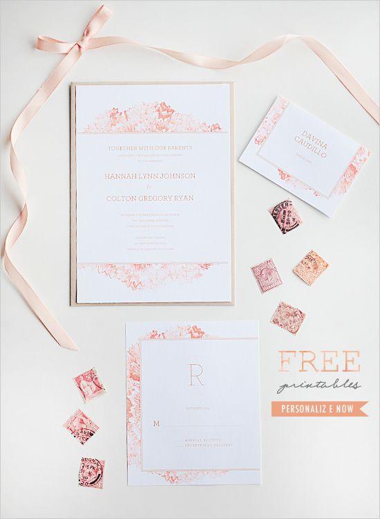free watercolor printable invitation suite