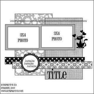 2 photos scrapbook page layout sketch
