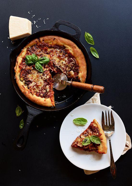 Deep Dish Roasted Vegetable Pizza