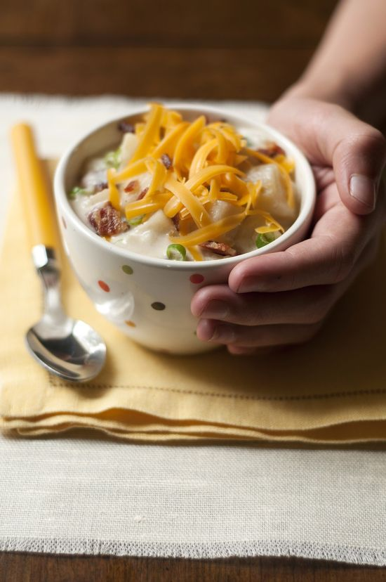 Loaded Baked Potato Soup with Bacon, Cheddar, and Green ...
