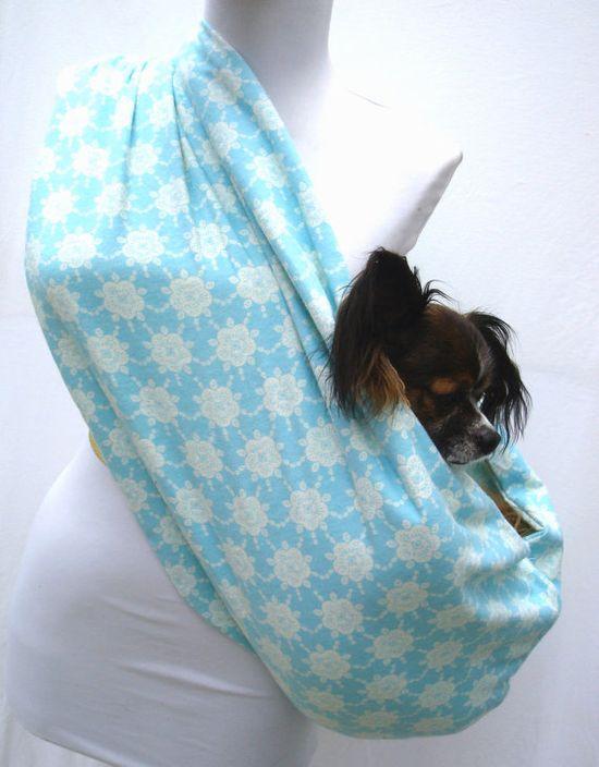 Puppy sling. I should have NationWares make this for me.