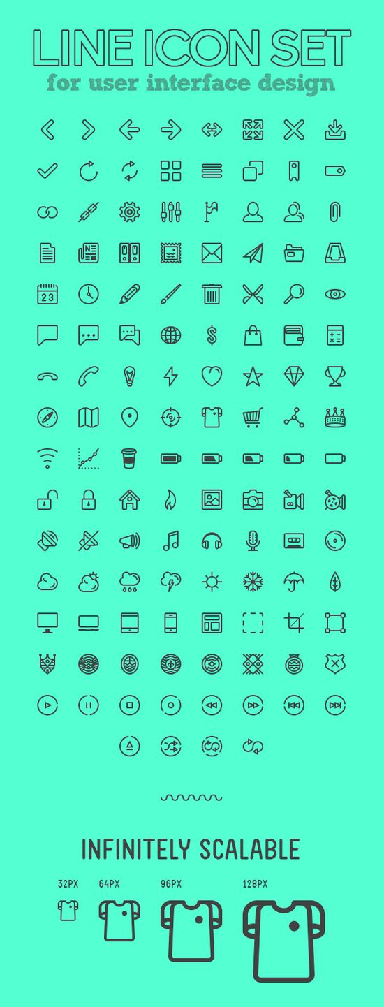 120+ Beautiful Line Icon Set for UI Design