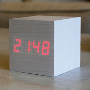 White Rabbit Wood Clock - Best Sellers Collection - Only show the time when you top or snap your fingers.You can program it to stay on also.