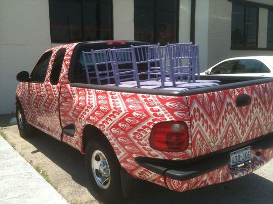 THe English Room needs a custom car too... I'm thinking a Orange Zebra Jeep...