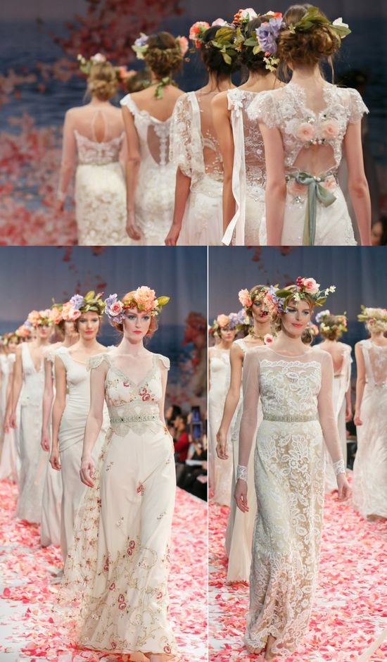 Flower Crowns - Claire Pettibone's 2013 Collection