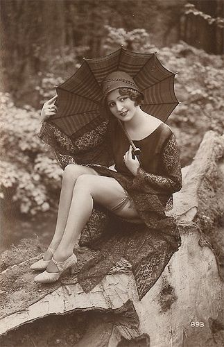 vintage girl with parasol by vvitch, via Flickr