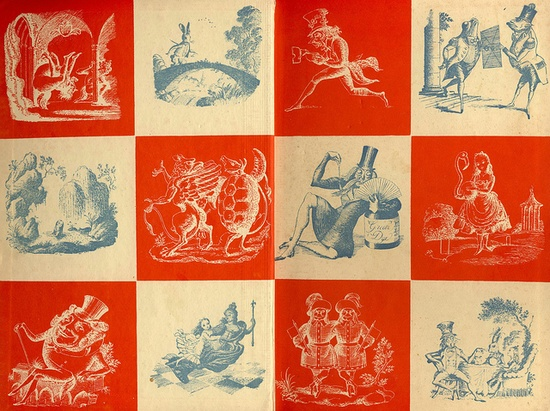 endpapers Alice in Wonderland