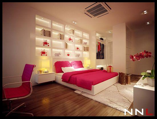 pink teen girl bedroom ideas