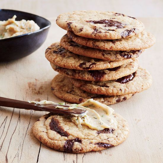 Chocolate-Chip Cookies with Red Miso Buttercream // More Sweet and Salty Desserts: www.foodandwine.c... #foodandwine