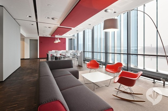 New beautiful office designs in Berlin, the above gloomy rooms of the