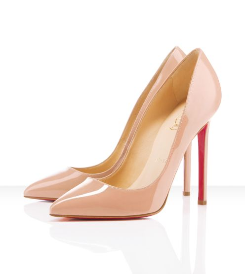 Louboutin pumps in nude color