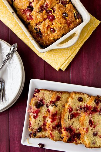 Glazed lemon-cranberry loaf