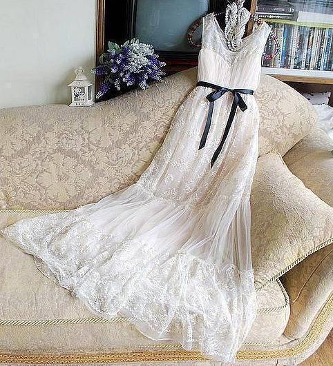 Wedding Dress / Romantic / Lace /Fairy /