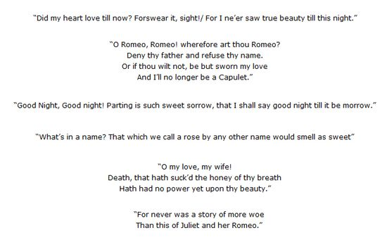 quotes from romeo and juliet