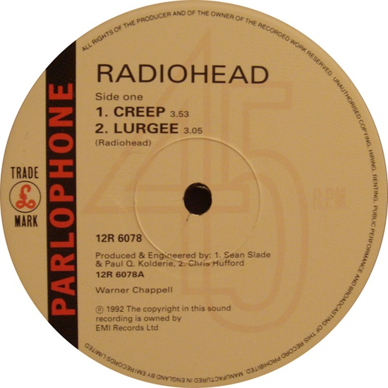 "Radiohead - Creep 12"""
