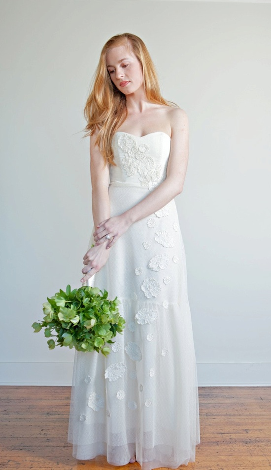 Sample Sale size 2 - Roses and Lace Wedding Dress. $650.00, via Etsy.