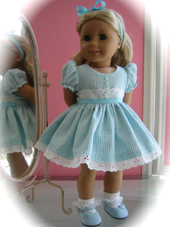 Party Dress made to fit 18 inch American Girl Doll by MenaBella