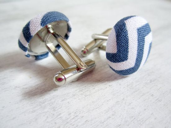 Navy Blue Cufflinks Navy Cuff links Navy and by clammyscloset, $18.00