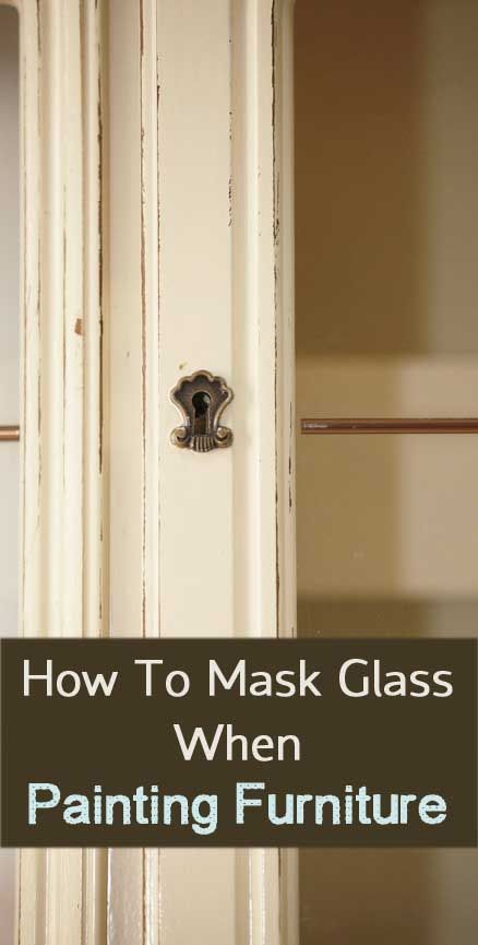 How to Mask Glass When Painting Furniture