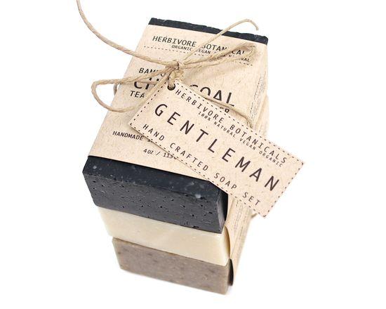 PRE ORDER for 11/6. Organic Man Soap Set. 3 bar soap set. Handmade Vegan 100% Natural Cold Process Soap.. $18.00, via Etsy.