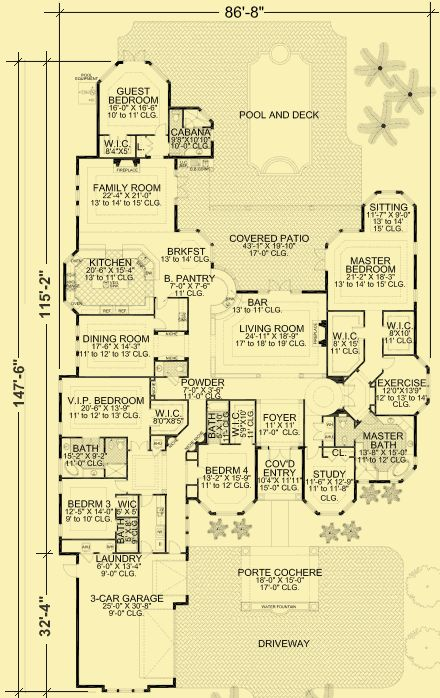 One story house plan architectural house plans