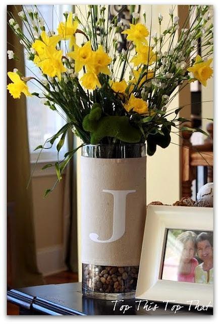 burlap vase wraps