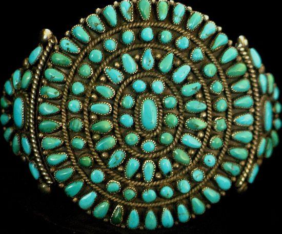 1950's Native American cluster bracelet