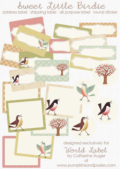 FREE printable bird labels
