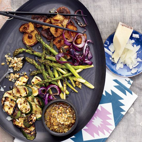 Vegetables with Walnut Dressing // More Great Grilled Vegetables: www.foodandwine.c... #foodandwine