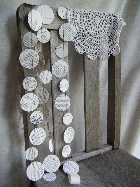 Circle garland - another perfect banner idea. Simple decor to fill the outside space around our tea party creating an intimate feel