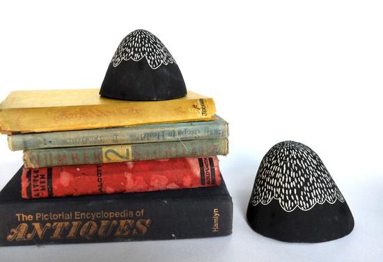 Foothills Mountain Shaped Ceramic Sculpture Set. $30.00, via Etsy.