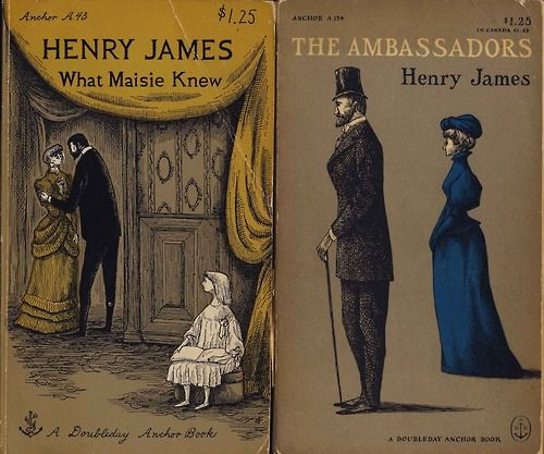 Henry James book covers by Edward Gorey