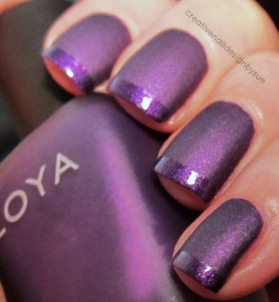 Creative Nail Design by Sue: The Nail Challenge Collaborative-Zoya Savita French Tip